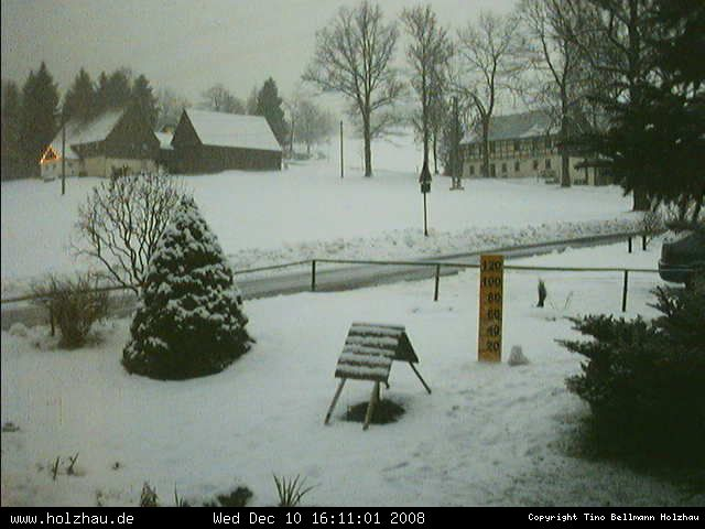 Wetter am 10.12.2008 in Holzhau (Erzgebirge)