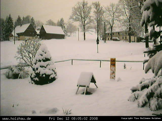 Wetter am 12.12.2008 in Holzhau (Erzgebirge)