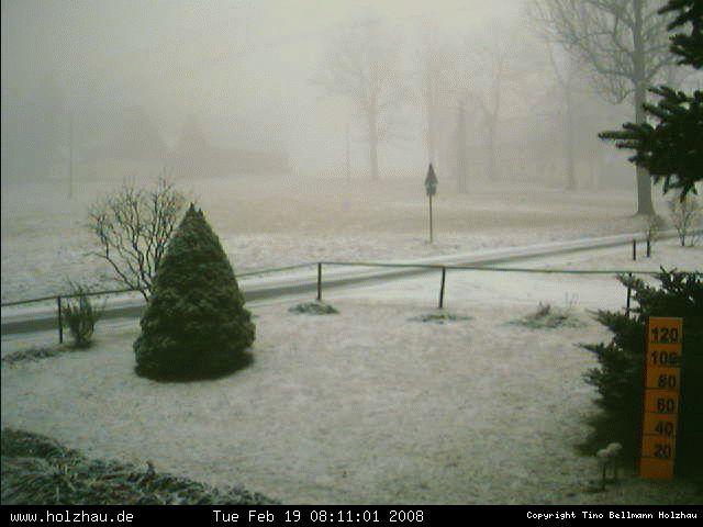 Wetter am 19.02.2008 in Holzhau (Erzgebirge)