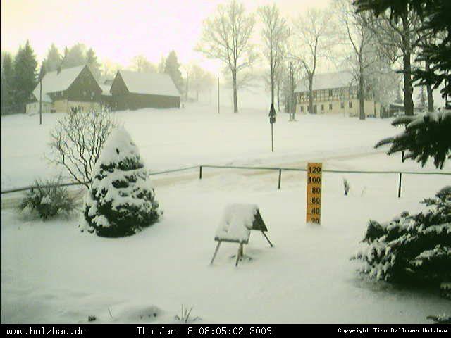 Wetter am 08.01.2009 in Holzhau (Erzgebirge)