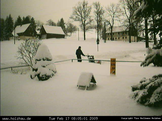 Wetter am 17.02.2009 in Holzhau (Erzgebirge)