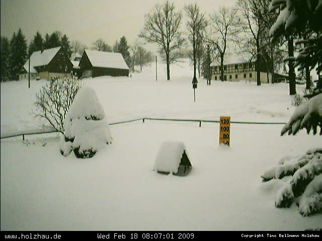 Wetter am 18.02.2009 in Holzhau (Erzgebirge)