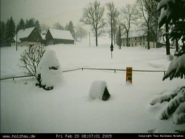 Wetter am 20.02.2009 in Holzhau (Erzgebirge)