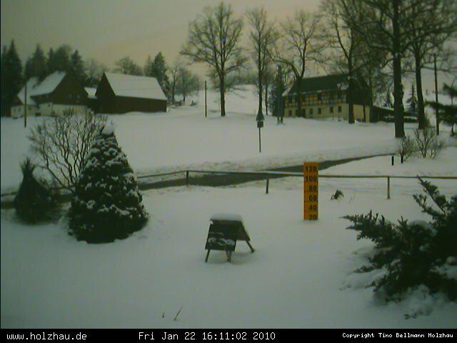 Webcam Holzhau 20.01.2008 Rodelhang vor 12 Jahren