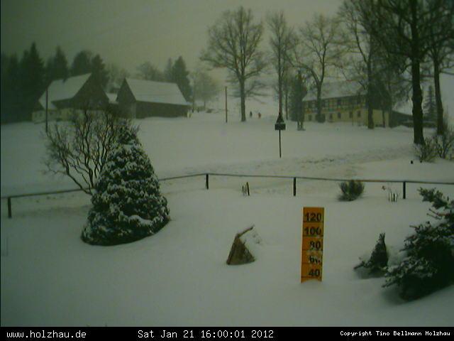 Wetter am 21.01.2012 in Holzhau (Erzgebirge)