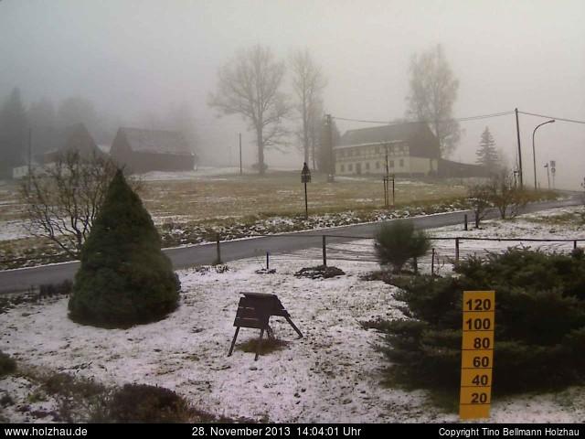 Wetter am 28.11.2013 in Holzhau (Erzgebirge)