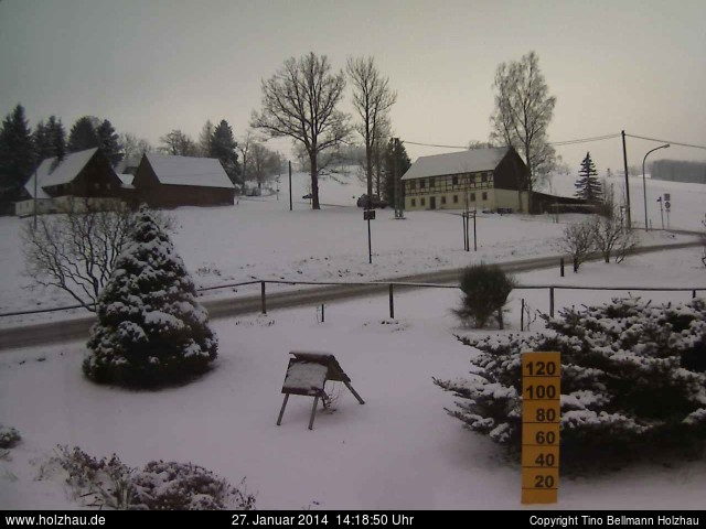 Wetter am 27.01.2014 in Holzhau (Erzgebirge)