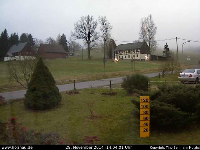 Wetter am 28.11.2014 in Holzhau (Erzgebirge)