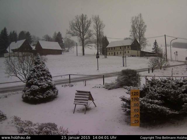 Wetter am 23.01.2015 in Holzhau (Erzgebirge)