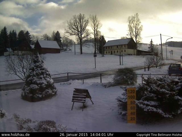 Wetter am 26.01.2015 in Holzhau (Erzgebirge)