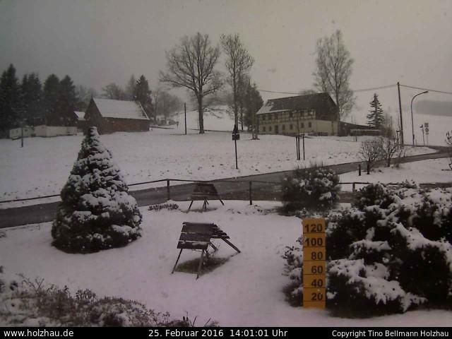 Wetter am 25.02.2016 in Holzhau (Erzgebirge)