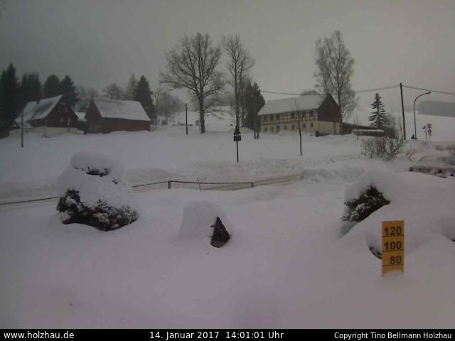 Wetter am 14.01.2017 in Holzhau (Erzgebirge)