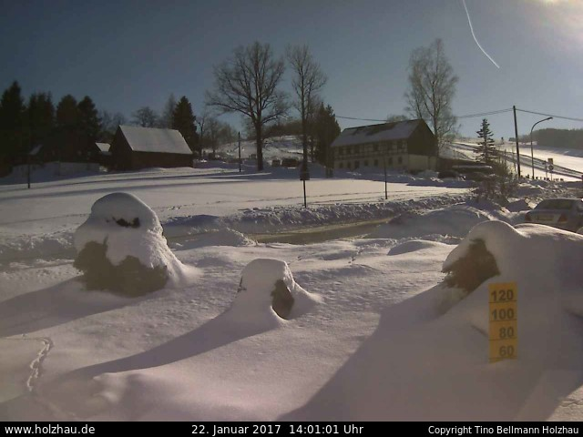 Webcam 20.01.2015 Holzhau Skigebiet Gründellift Rodelbahn