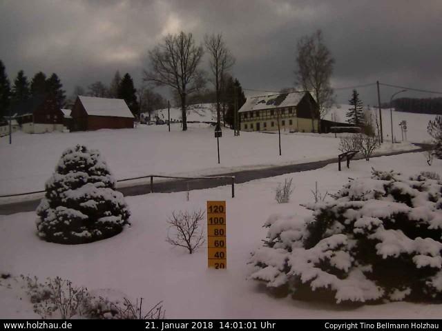 Wetter am 21.01.2018 in Holzhau (Erzgebirge)