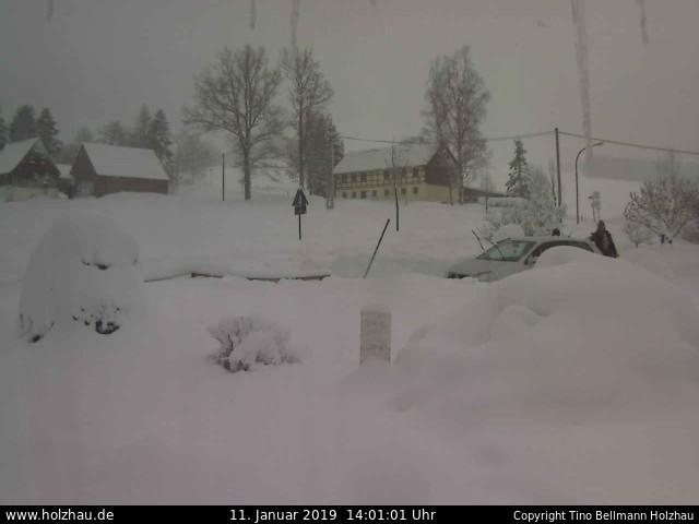 Wetter am 11.01.2019 in Holzhau (Erzgebirge)