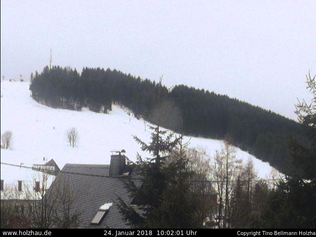 Holzhau Webcam Skilift Schnee 25.10.2016
