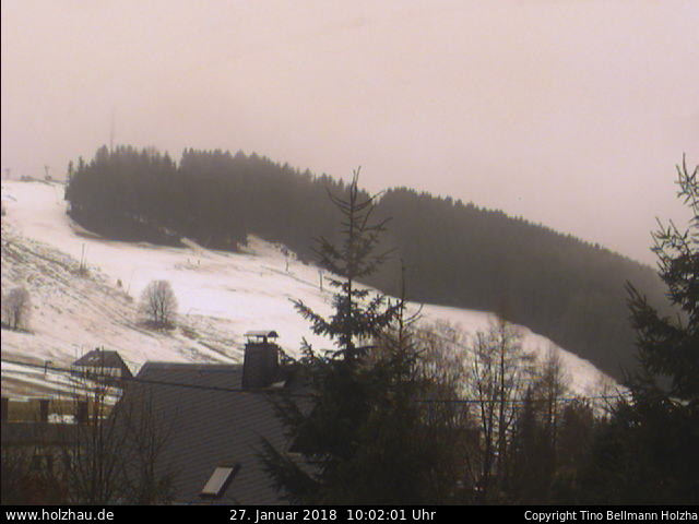 Holzhau Webcam Skilift Schnee 19.08.2015